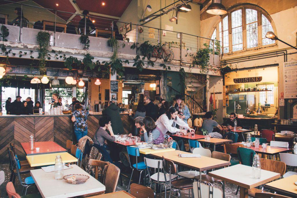 Das Restaurant La REcyclerie in Montmartre