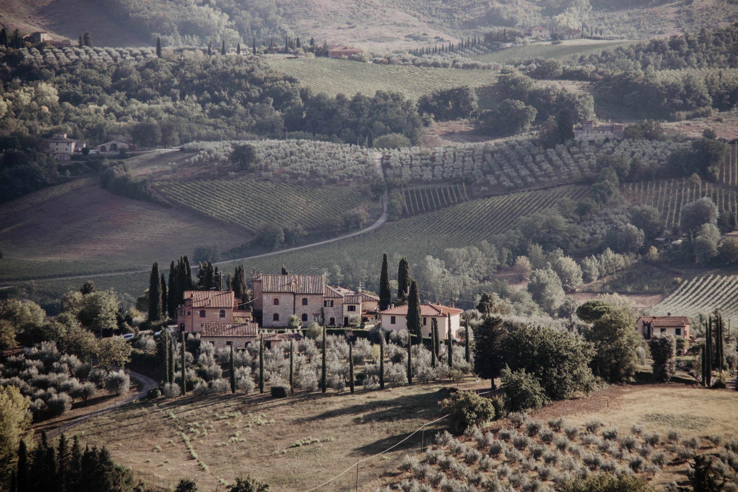 Toskana Roadtrip Insider Tipps für 1 bis 2 Wochen Landschaft bei San Gimignano