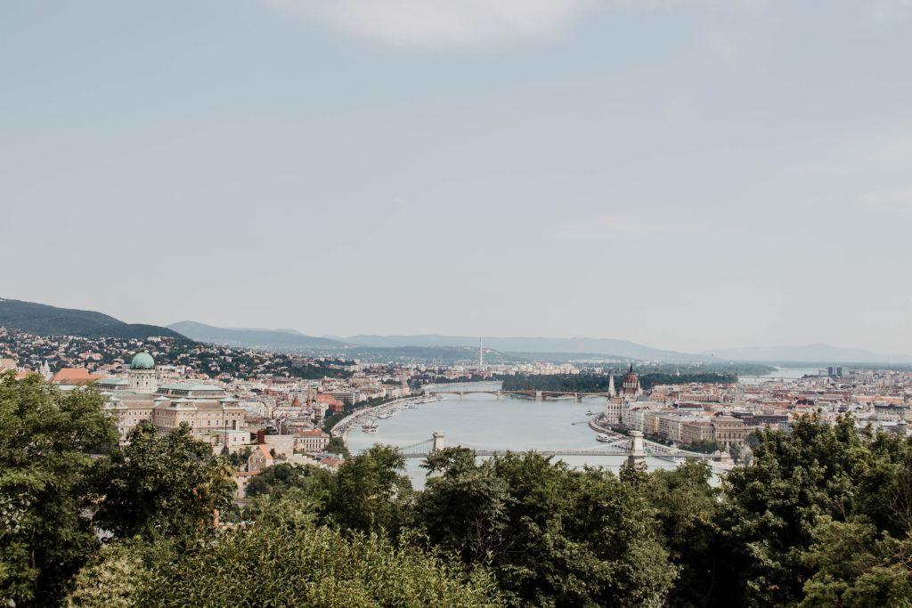 Budapest Aussicht vom Gellertberg