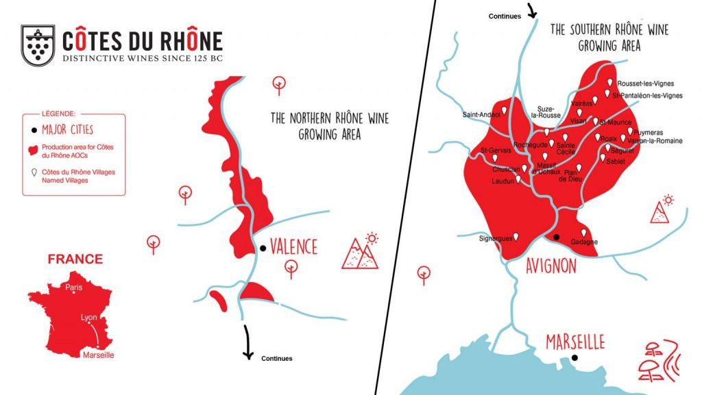 Cotes du Rhone Weinbaugebiet